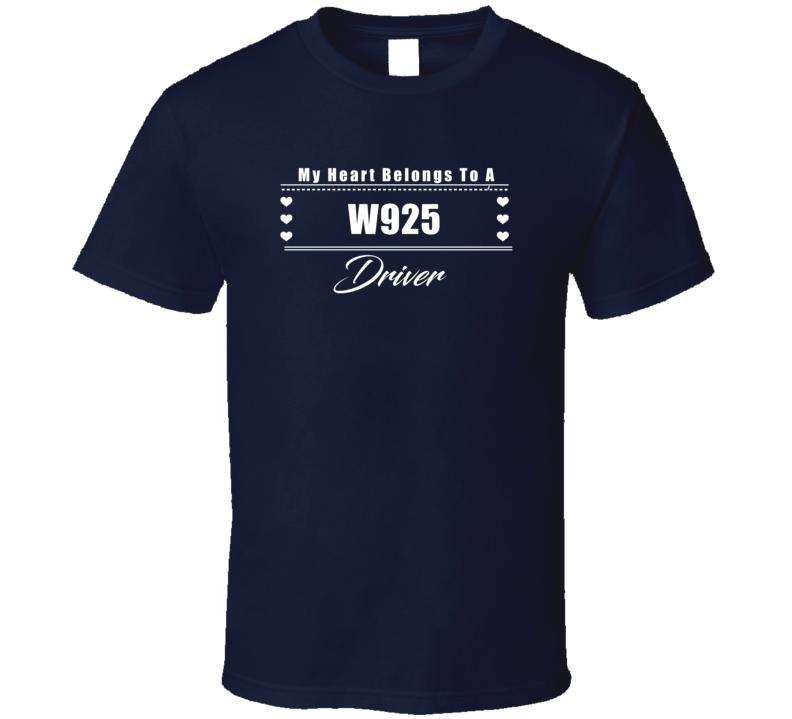 My Heart Belongs To A W925 Truck Driver Dark Color T Shirt