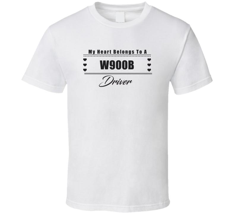 My Heart Belongs To A W900B Truck Driver Light Color T Shirt