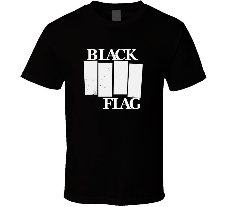 Barneys Black Flag Parody Faded Look Black T Shirt