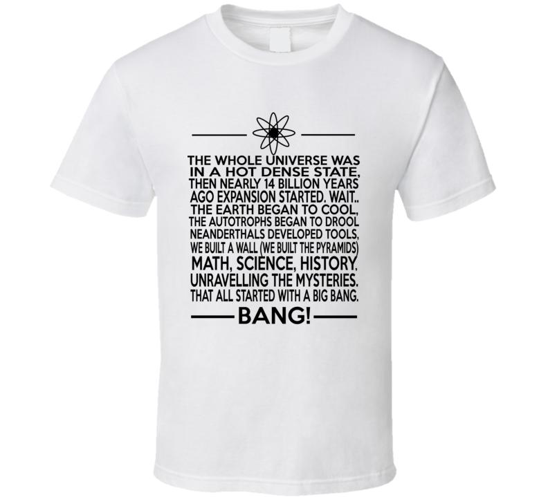 Big Bang Theory Parody Sheldon Cooper Style Funny T Shirt