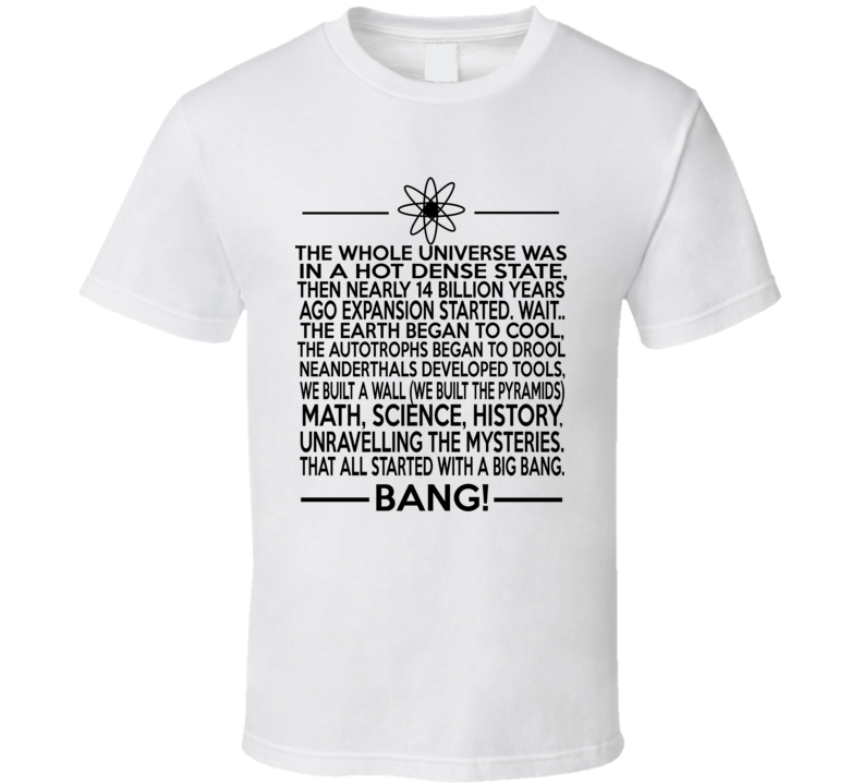 Big Bang Theory Parody Sheldon Cooper Style Funny White T Shirt