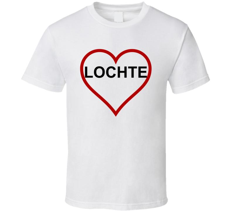 Ryan Lochte Heart Support DWS Dancing Style White T Shirt