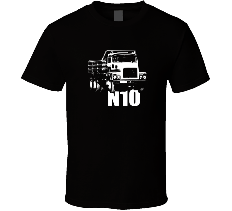N10 Truck Front View With Model Dark Color T Shirt