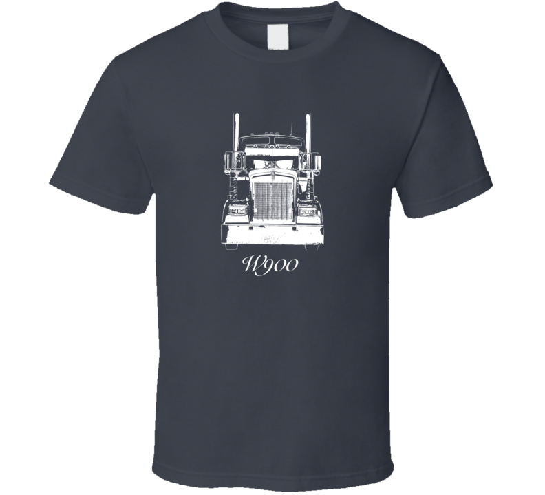 Kenworth W900 Grill View With Model Dark Color T Shirt