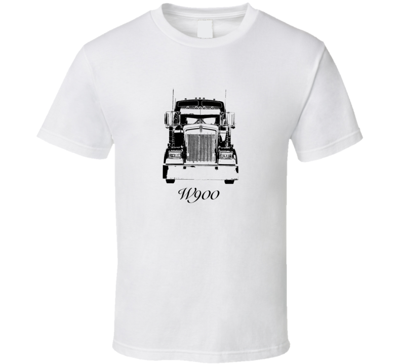 Kenworth W900 Grill View With Model Light Color T Shirt