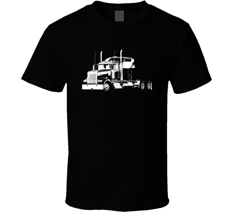 Kenworth W900 Side View Dark Color T Shirt