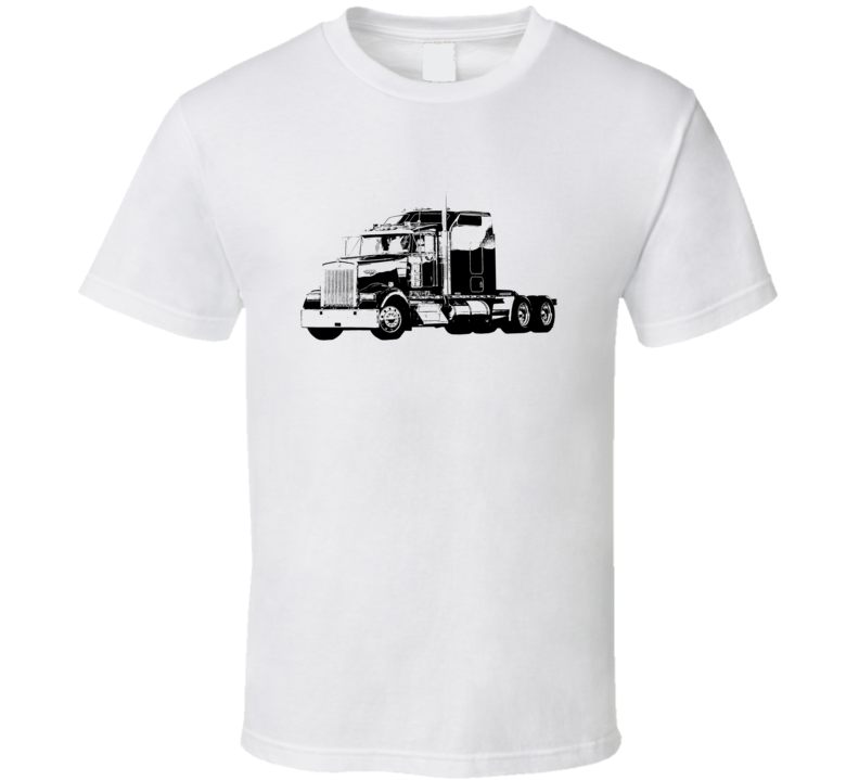 Kenworth W900 Side View Light Color T Shirt