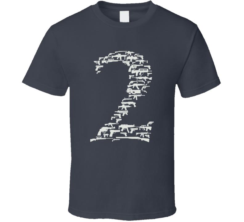 2nd Amendment Rights With Guns Dark Color T Shirt