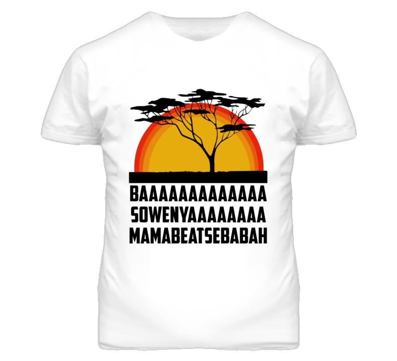 Sunrise Tree Lion Cartoon Movie Parody T Shirt