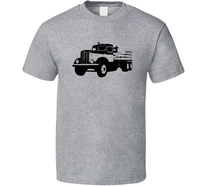 Peterbilt 334 Side View Faded Look Light Color T Shirt