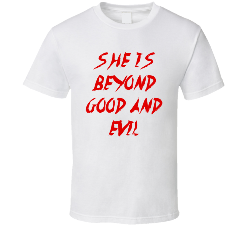 Beyond Good And Evil Kanye Style Text On Back T Shirt