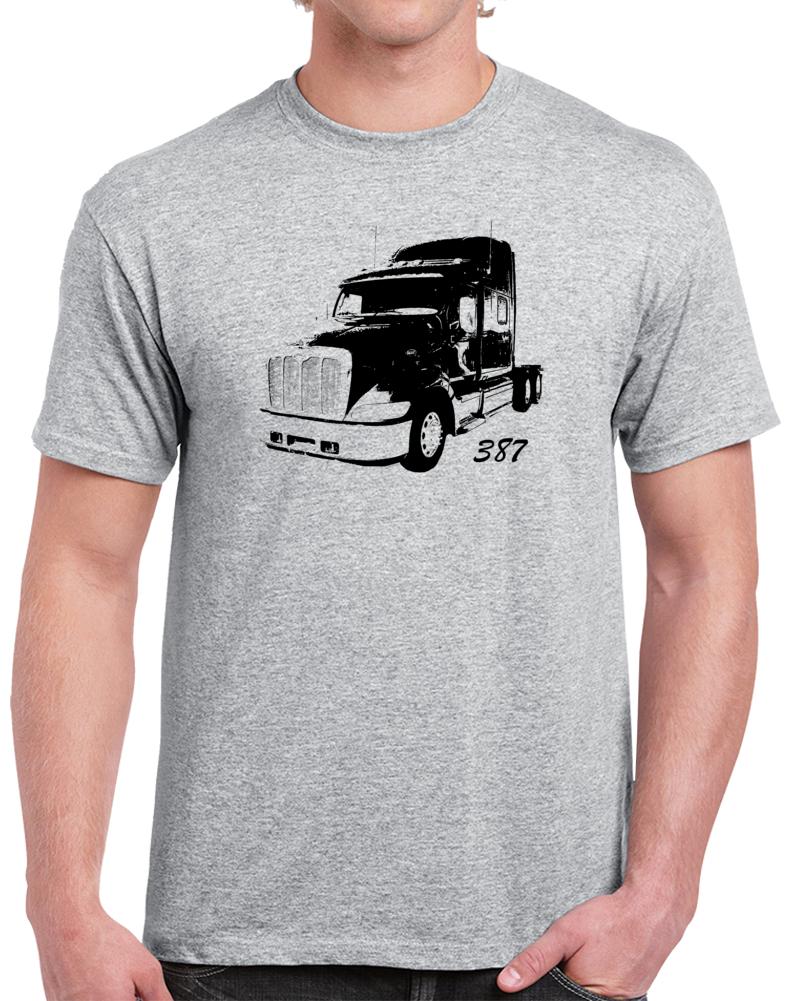 Peterbilt 387 Trucker Side View Rig T Shirt