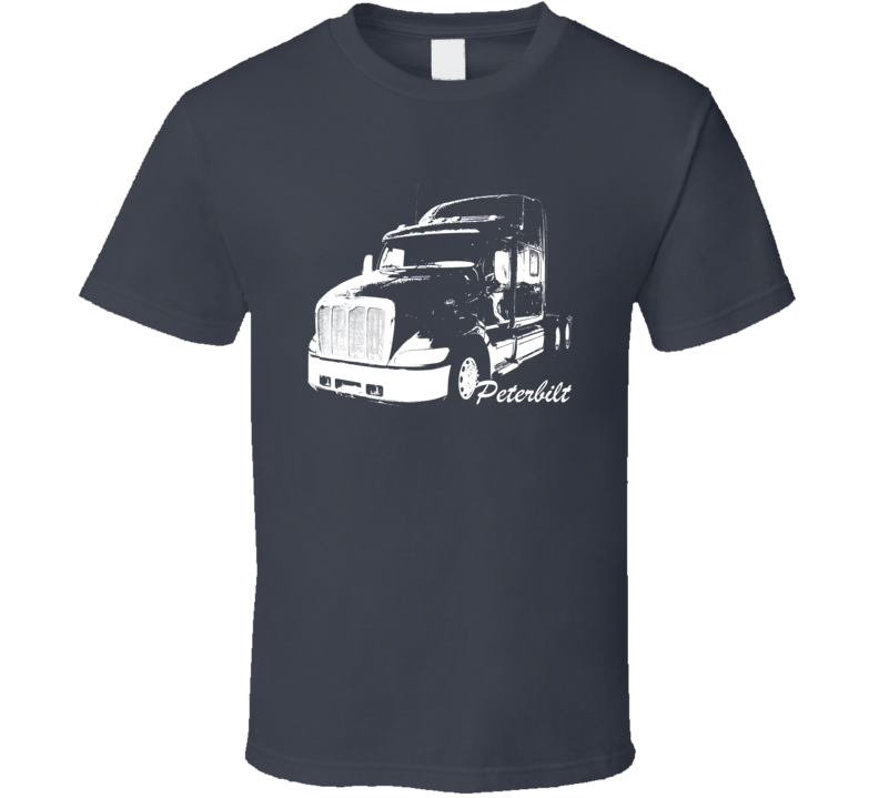 Peterbilt 387 Side View With Make Name Trucker T Shirt