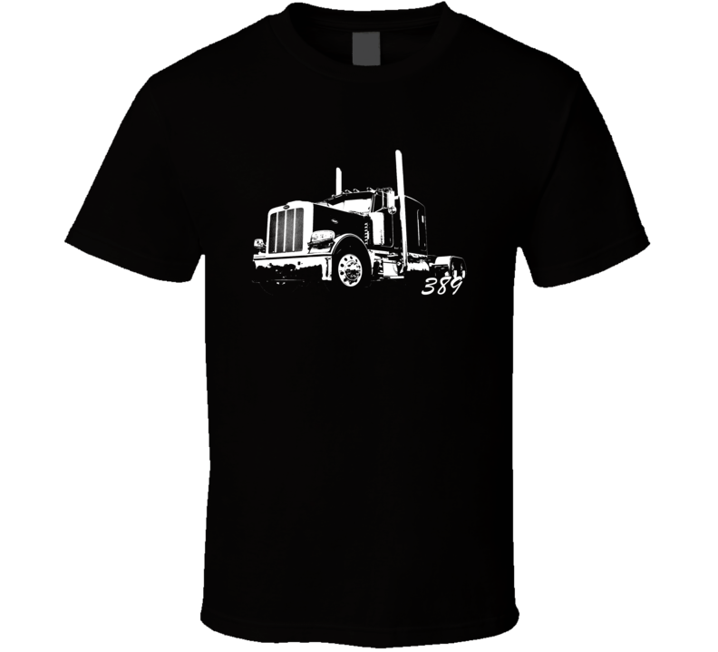 Peterbilt 389 With Model Name Dark Color Trucker T Shirt