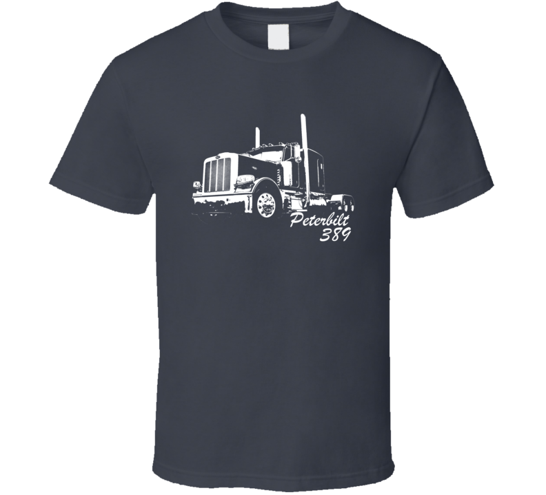 Peterbilt 389 With Make And Model Dark Color T Shirt