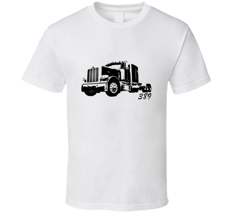 Peterbilt 389 With Make Name Light Color Trucker T Shirt