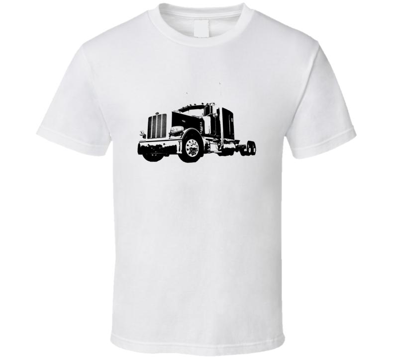 Peterbilt 389 Side View Light Color Trucker T Shirt
