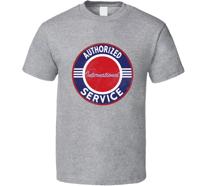 International Authorized Service Vintage Garage Sign Distressed Look T Shirt