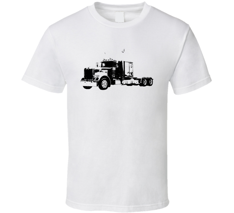 Peterbilt 389 Side View White Trucker T Shirt