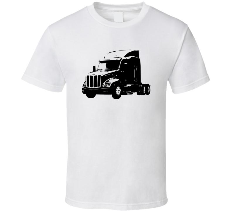 Peterbilt 579 Side View White Trucker T Shirt