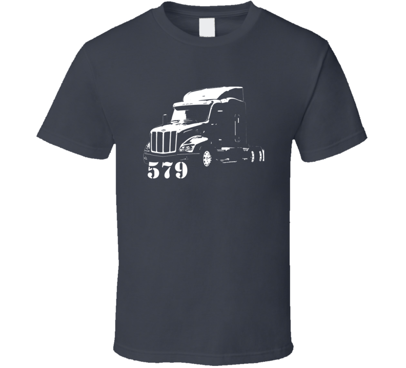Peterbilt 579 Side View With Model Number Charcoal T Shirt