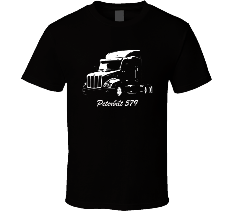Peterbilt 579 Side View With Make And Model Number Black T Shirt