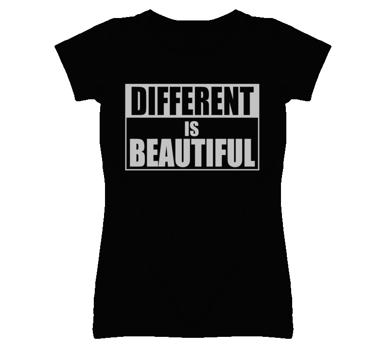 Different is Beautiful Statement Faded Look T Shirt