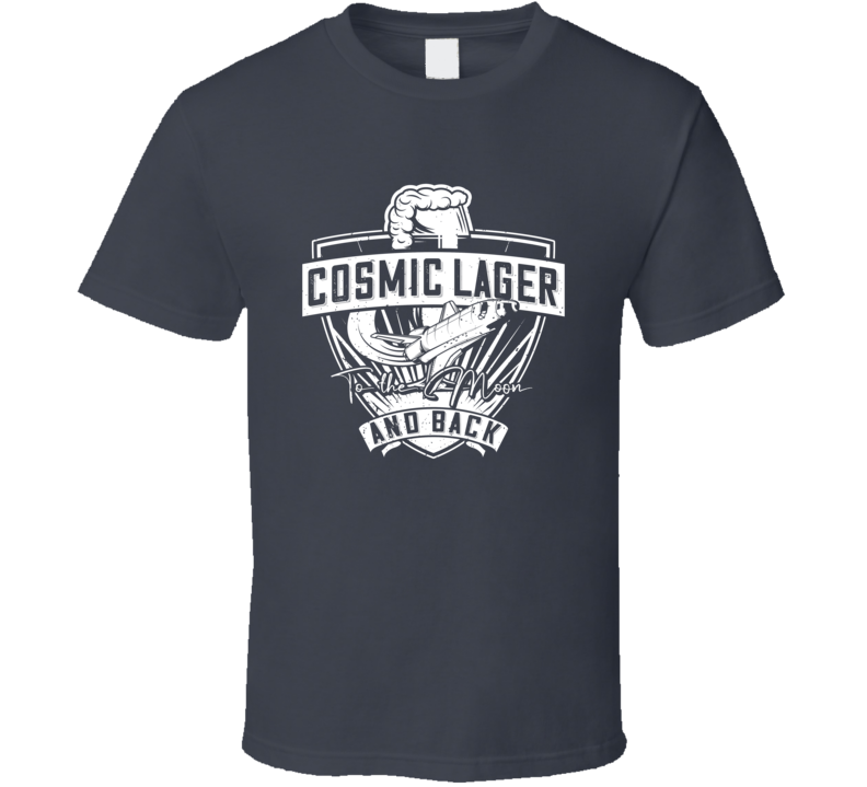 Cosmic Lager Vintage Style Funny Dark Color T Shirt