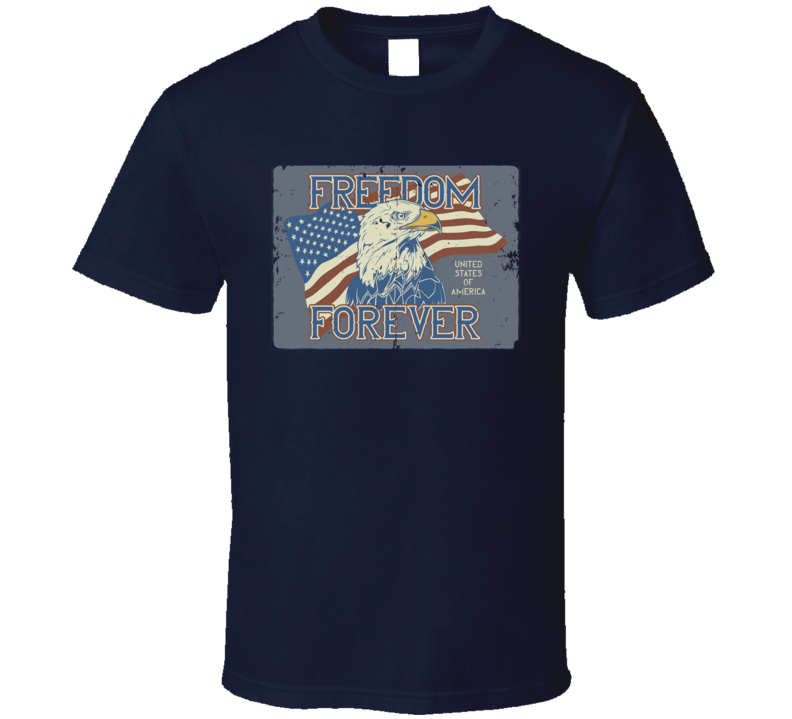 Freedom Forever Vintage Poster Style T Shirt