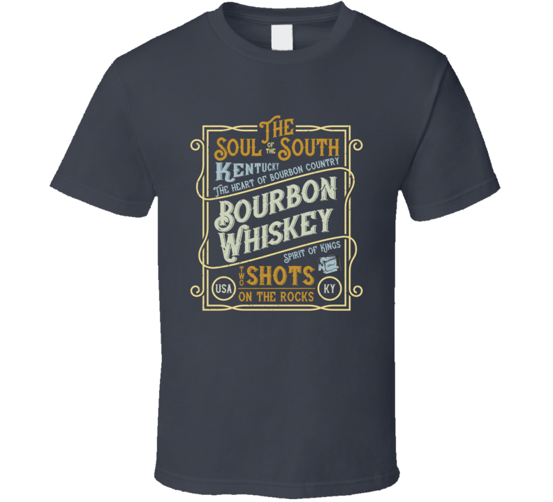 South Of The South Bourbon Vintage Style Funny T Shirt