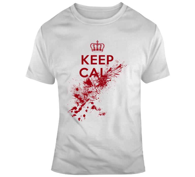 Sarcastic Keep Cal..... Red Splatter Funny Light Color T Shirt