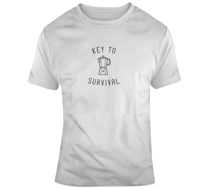 Key To Survival Coffee Funny Light Color T Shirt