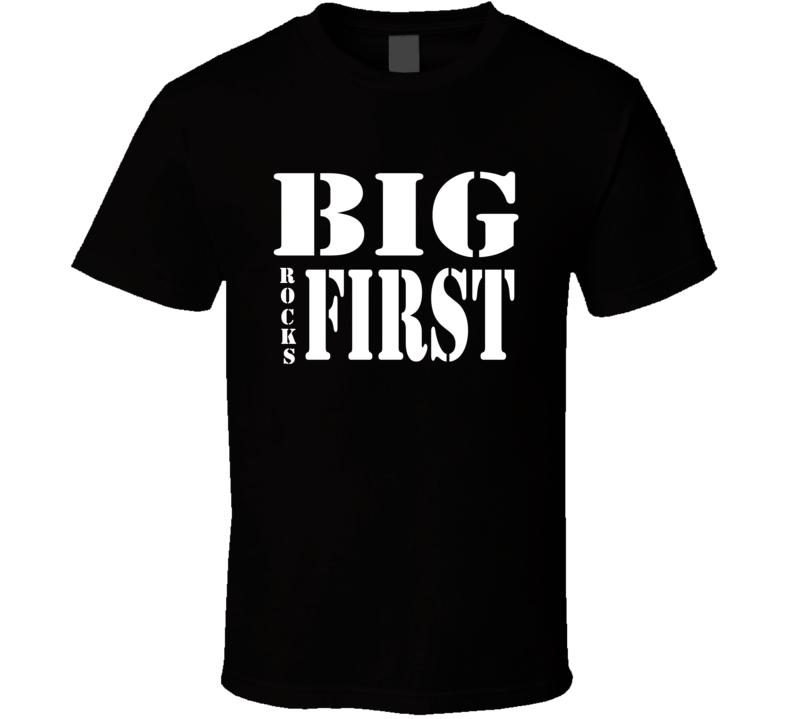 Big Rocks First Stencil Font T Shirt
