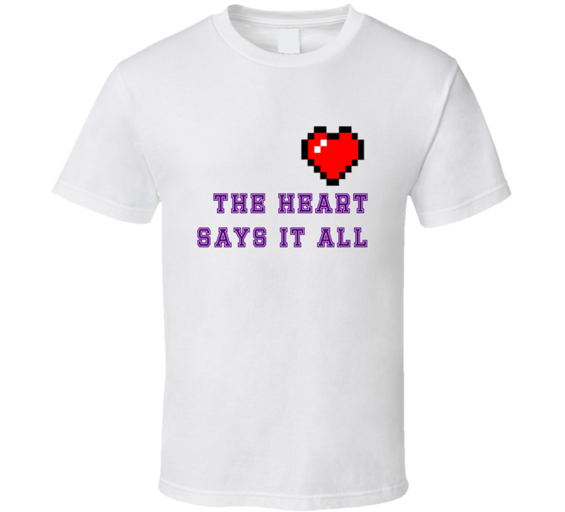 The Heart Says It All Minecraft T Shirt