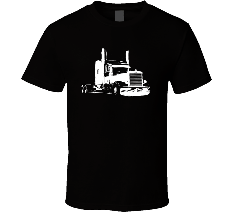 2007 Peterbilt 379 Legacy Edition Side View White Graphic T Shirt