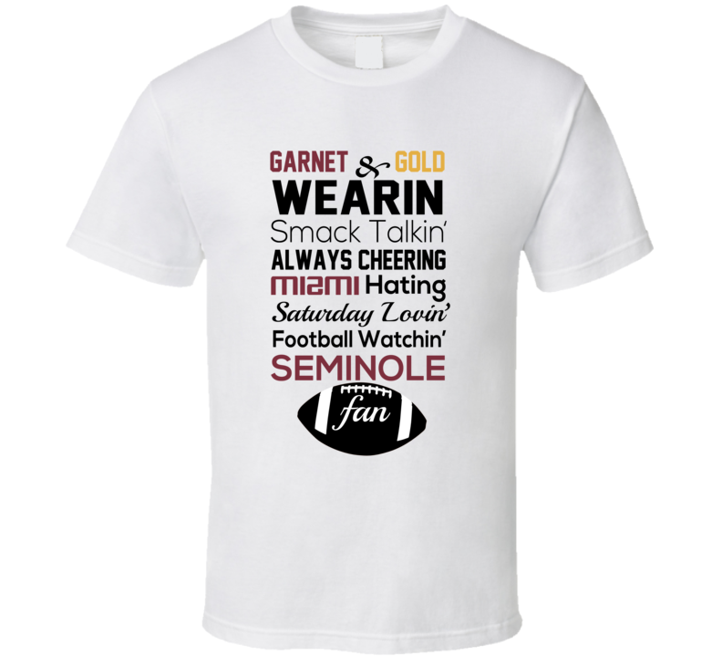 Garnet And Gold Noles T Shirt