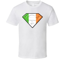 Superman Irish Flag T Shirt