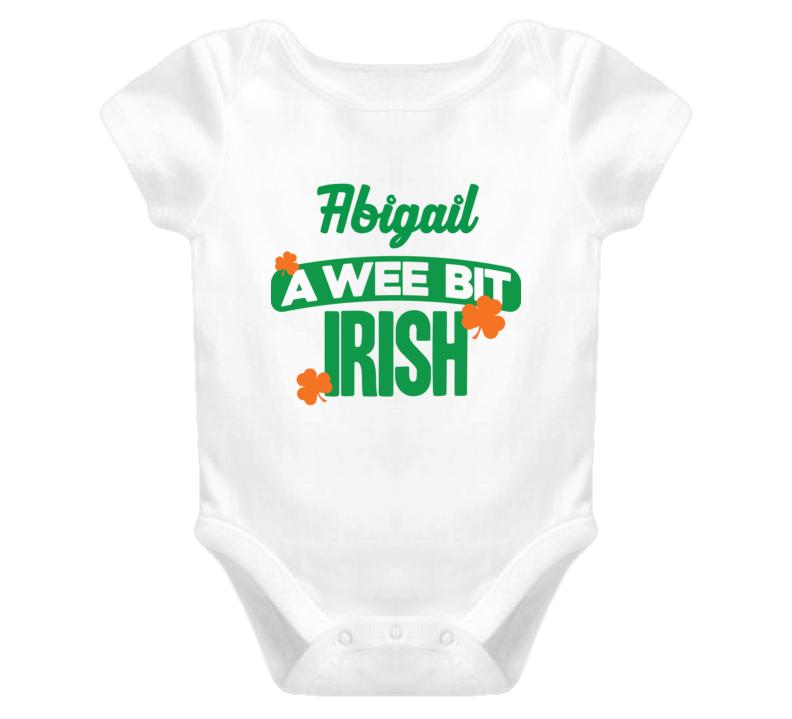 Abigail A Wee Bit Irish Funny St Patricks Day Name T Shirt
