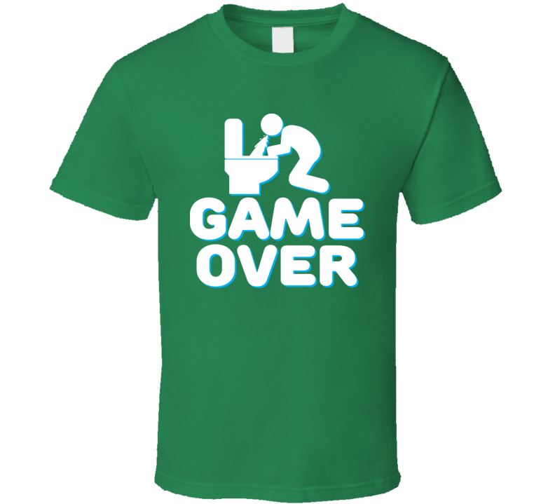 Game Over Funny St. Patrick's Day Irish Drinking Drunk T Shirt