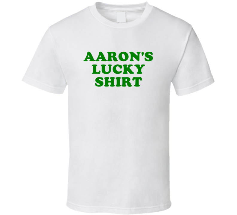 Aaron Lucky Shirt Beer Funny St Patricks Day Pub Bar Party Drinking T Shirt
