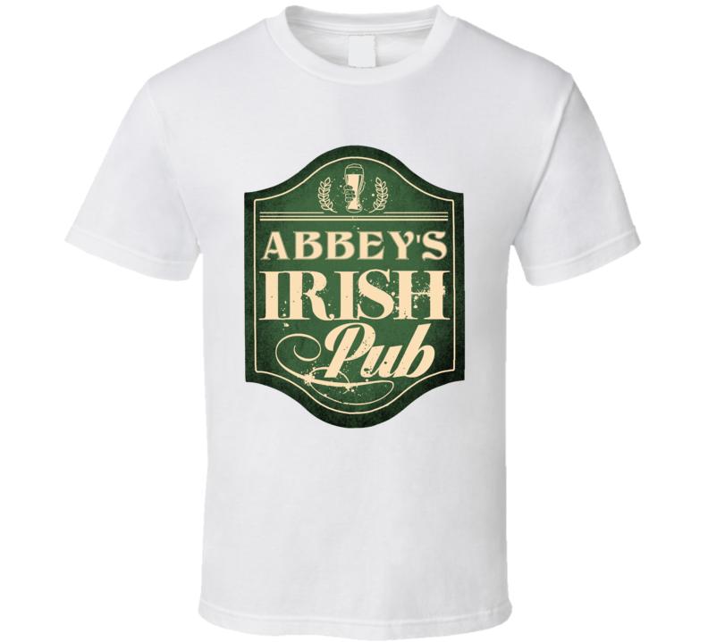 Abbey Irish Pub St Patricks Day Beer Party Custom Name T Shirt