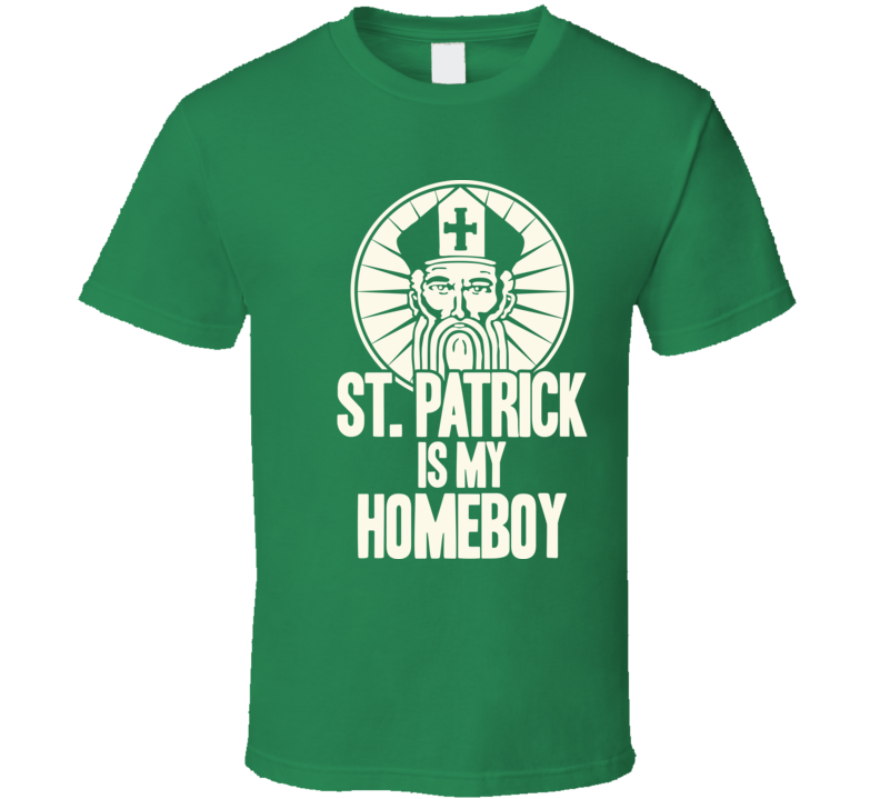 St. Patrick Is My Home Boy Funny Irish Saint Worn Look T Shirt