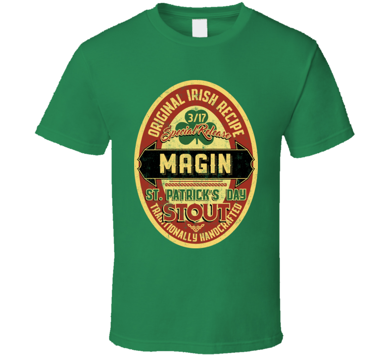 Magin Original Irish Stout Beer Label St Patricks Day Last