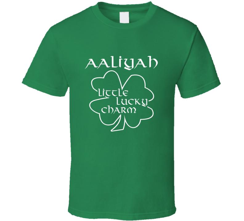 Aaliyah Little Lucky Charm Cute St Patricks Day T Shirt