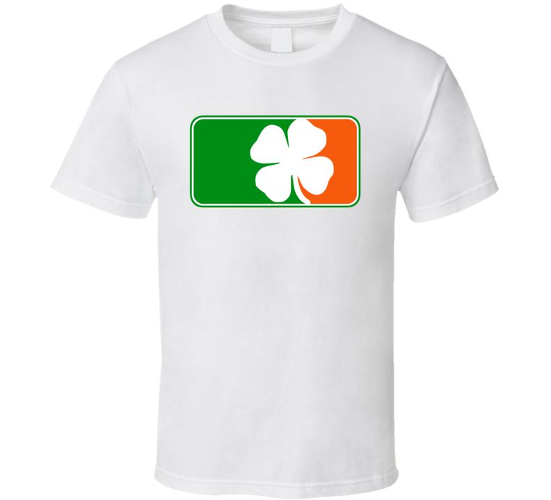 Irish Ireland Shamrock Major League Logo Parody T Shirt