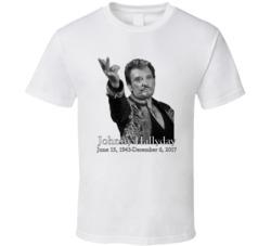 Johnny Hallyday Tribute RIP French Rockstar Fan T Shirt