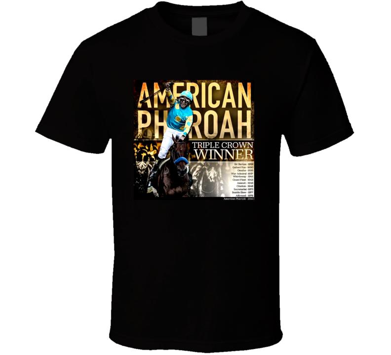 Sunshine T Shirts American Pharoah 2015 Triple Crown Winner T Shirt
