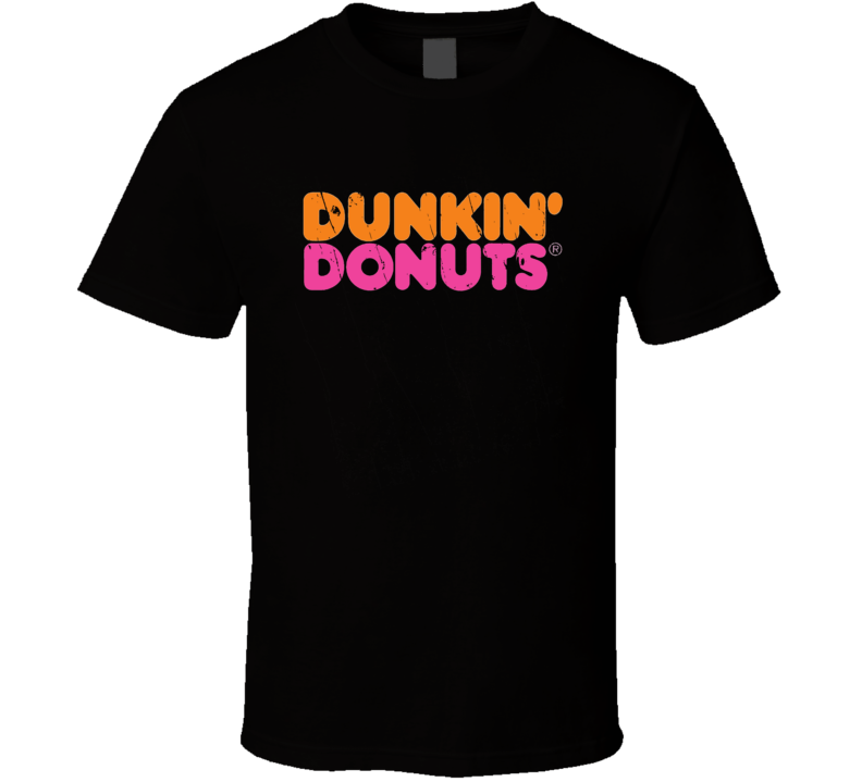 Dunkin Donut Throwback Worn Look Christmas Gift T Shirt
