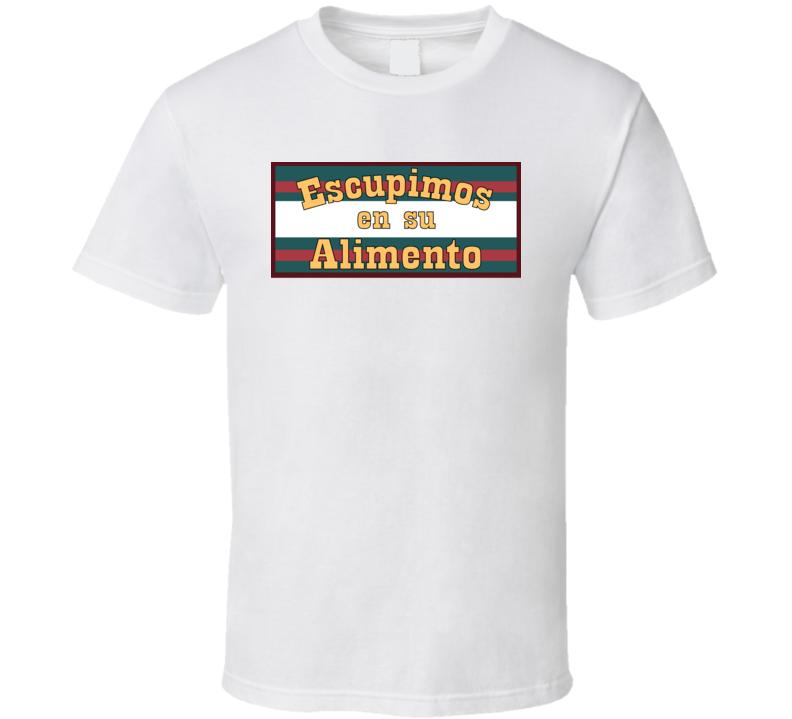Escupimos en su Alimento Anchorman Restaurant Easter Egg T Shirt