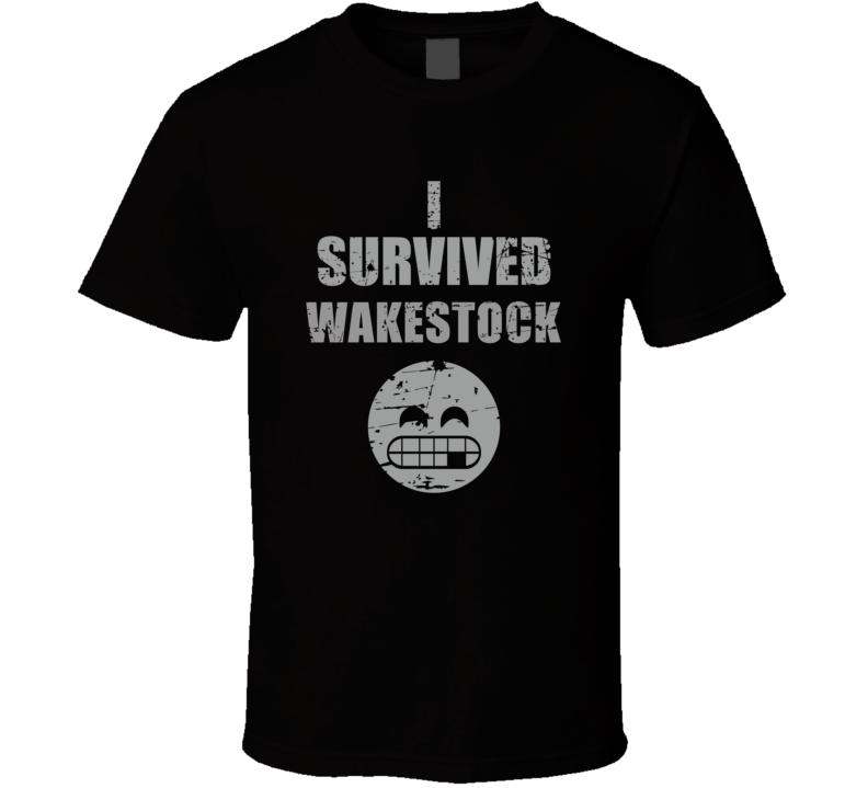 I Survived Wakestock Cool Funny Worn Look Party T Shirt